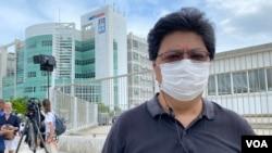 香港記者協會主席楊健興表示,記者為追求真相,鍥而不捨, 前港台外判編導蔡玉玲因查冊報道被定罪的案件成為首宗個案, 對新聞工作者來說有很大衝擊 (美國之音湯惠芸)