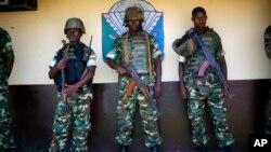 非盟維和部隊4月9日在中非共和國的班吉。