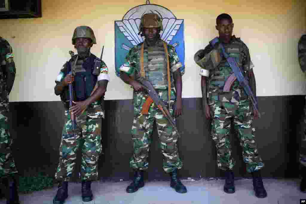 African peacekeeping mission troops known as MISCA in Bangui, Central African Republic, April 9, 2014.