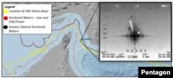 Path of U.S. Global Hawk surveillance drone over the Strait of Hormuz.