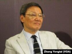 台湾前陆委会主委苏起 (美国之音张永泰拍摄)