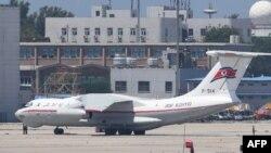 중국 베이징 공항의 북한 고려항공 여객기.