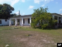 This Friday, March 20, 2015 photo shows the house that used to belong to U.S. citizen Daniel Smith in the Isle of Pines, Cuba. The property was confiscated by the new Cuban government after the revolution.