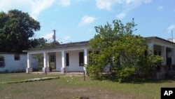 FILE - This house used to belong to U.S. citizen Daniel Smith in the Isle of Pines, Cuba. Photo taken March 2015. The property was confiscated by the new Cuban government after the revolution.