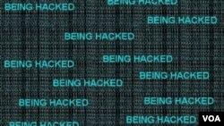 Gráfico que ilustra una página web en el momento de ser atacada por hackers.