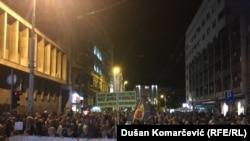 "43. antivladin skup ""Jedan od pet miliona"", u Beogradu, 28. septembra 2019. (Foto: Dušan Komarčević, RSE)"
