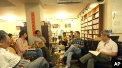 王丹在台湾一次民主讨论会上