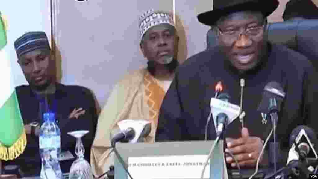 Shugaban Najeriya Goodluck Jonathan. huwagabannin Najeriya da Chadi, Nijar dakuma Kamaru Zasu Yaki Boko Haram, Oktoba 9, 2014