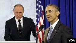 """باراک اوباما و ولادیمیر پوتین در دو اظهارنظر جداگانه بر ادامه مذاکرات صلح به عنوان """"تنها راهحل سوریه"""" تاکید دارند."""