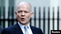 Ngoại trưởng Anh William Hague.