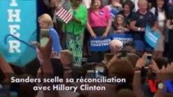 Sanders scelle sa réconciliation avec Clinton