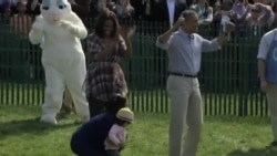 美国万花筒: 白宫举行复活节滚彩蛋活动;2014年纽约车展登场