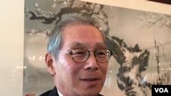 台灣駐美代表高碩泰(美國之音鍾辰芳拍攝)