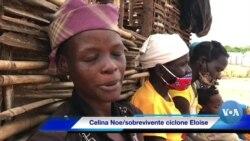 Ciclone Eloise: Celina Noé atravessou rio a nado, grávida e com dois filhos nos braços