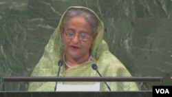 Bangladesh Prime Minister Sheikh Hasina addressing at the 73rd` United Nations General Assembly.