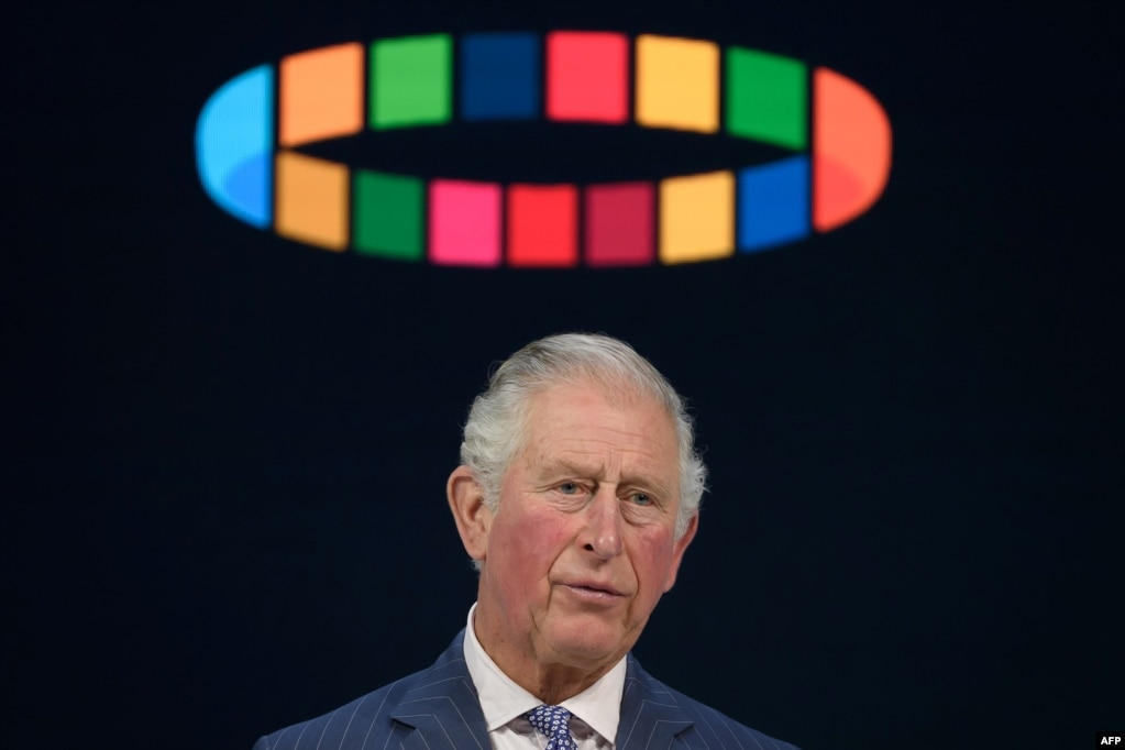Britain's Prince Charles, Prince of Wales, delivers a speech during the World Economic Forum yearly meeting in Davos, Switzerland.