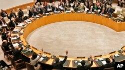 북한의 3차 핵실험 후인 지난 3월 유엔 안전보장이사회가 대북 추가 제재에 관한 투표를 하고 있다. (자료사진)