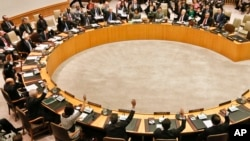 북한의 3차 핵실험 후인 지난 2013년 3월 유엔 안보리 이사회가 대북 추가 제재에 관한 투표를 하고 있다. (자료사진)