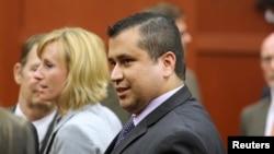 George Zimmerman rời tòa án sau khi được tuyên bố trắng án, 13/7/13