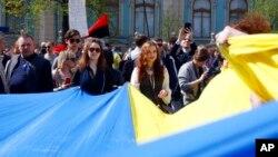 На улицах Киева после принятия «Закона о языке»