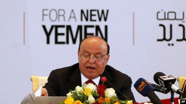 FILE - Yemeni President Abed Rabbo Mansour Hadi.