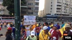Los estudiantes protagonizaron un 'trancazo' en las calles de Caracas el 4 de julio.