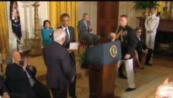 2012-05-30 美國之音視頻新聞: 奧巴馬頒發總統自由勛章
