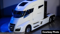 U.S.-based Nikola Motor Company is developing electric transport trucks powered by zero-emission hydrogen. (Nikola)