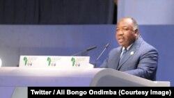 Le président Ali Bongo Ondimba lors du 1er Sommet conjoint CEEAC – CED à Lomé, Togo, 30 juillet 2018. (Twitter/ Ali Bongo Ondimba)