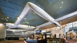 The Voyager airplane now hangs in the National Air and Space Museum in Washington