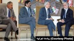 آقای عبدالله یکشنبه با سه دیپلمات ارشد ملاقات داشت