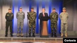 El canciller colombiano, Carlos Holmes Trujillo, hizo un balance del par nacional que se llevó a cabo el jueves 21 de noviembre, en Colombia. Foto: Presidencia de Colombia.