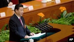 17일 전인대 폐막연설을 하고 있는 시진핑 중국 국가주석