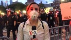 VOA's Celia Mendoza Reports on New York Protest