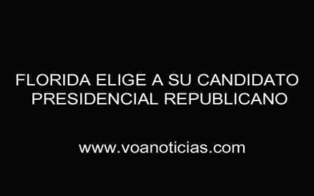 Florida elige a su candidato presidencial republicano