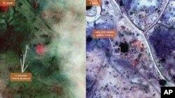 据称卫星图像显示的苏丹南科尔多凡万人坑