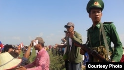 Photo taken at the scene of 'clashes' at Vietnam and Cambodia border on June 28, 2015.