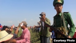 Ảnh chụp tại hiện trường vụ 'xô xát' giữa người Việt và Campuchia ở biên giới hai nước hôm 28/6/2015.