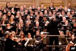 After almost 30 hours of rehearsal, the students and pros perform for a live audience at Carnegie Hall.
