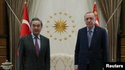 Cumhurbaşkanı Recep Tayyip Erdoğan ve Çin Dışişleri Bakanı Wang Yi