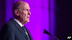 Director of National Intelligence Dan Coats speaks at the DC CyberTalks conference, Oct. 18, 2018, in Washington.