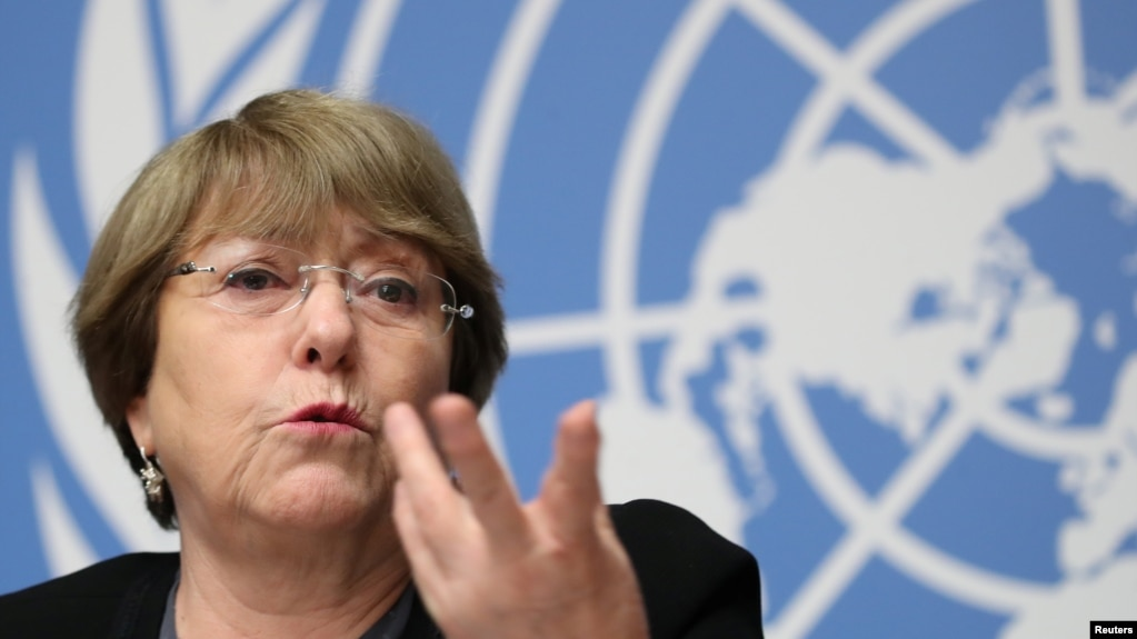 U.N. High Commissioner for Human Rights Michelle Bachelet attends a news conference at the United Nations in Geneva, Switzerland, Dec. 5, 2018.