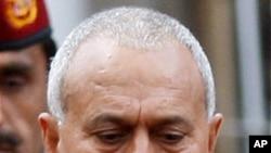 사임 의사를 밝힌 알리 압둘라 살레 대통령