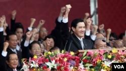 馬英九總統發表國慶日演說(台灣總統府提供)