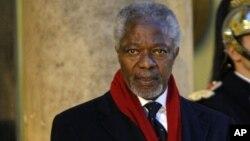 Africa Progress Panel head and former UN secretary General Kofi Annan, Februay 15, 2011.
