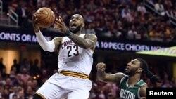 LeBron James (23), Cleveland, Ohio, le 23 mai 2017. (Ken Blaze-USA TODAY Sports)