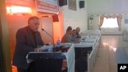Seîd Veroj li konferansa piştgîriya Kurdên Sûrîyê li Dîyarbekirê.