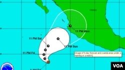 Jova tocará tierra en el noroccidente de México con vientos máximos sostenidos de unos 148 kilómetros por hora y ráfaga más fuertes.