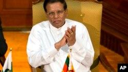 Le président du Sri Lanka Maithripala Sirisena lors d'une réunion à Colombo, Sri Lanka, le 5 janvier 2016.