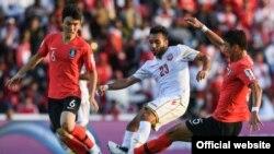 دیدار تیم های کره جنوبی و بحرین